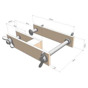 Fingerboard radius jig - Frame angle adjuster