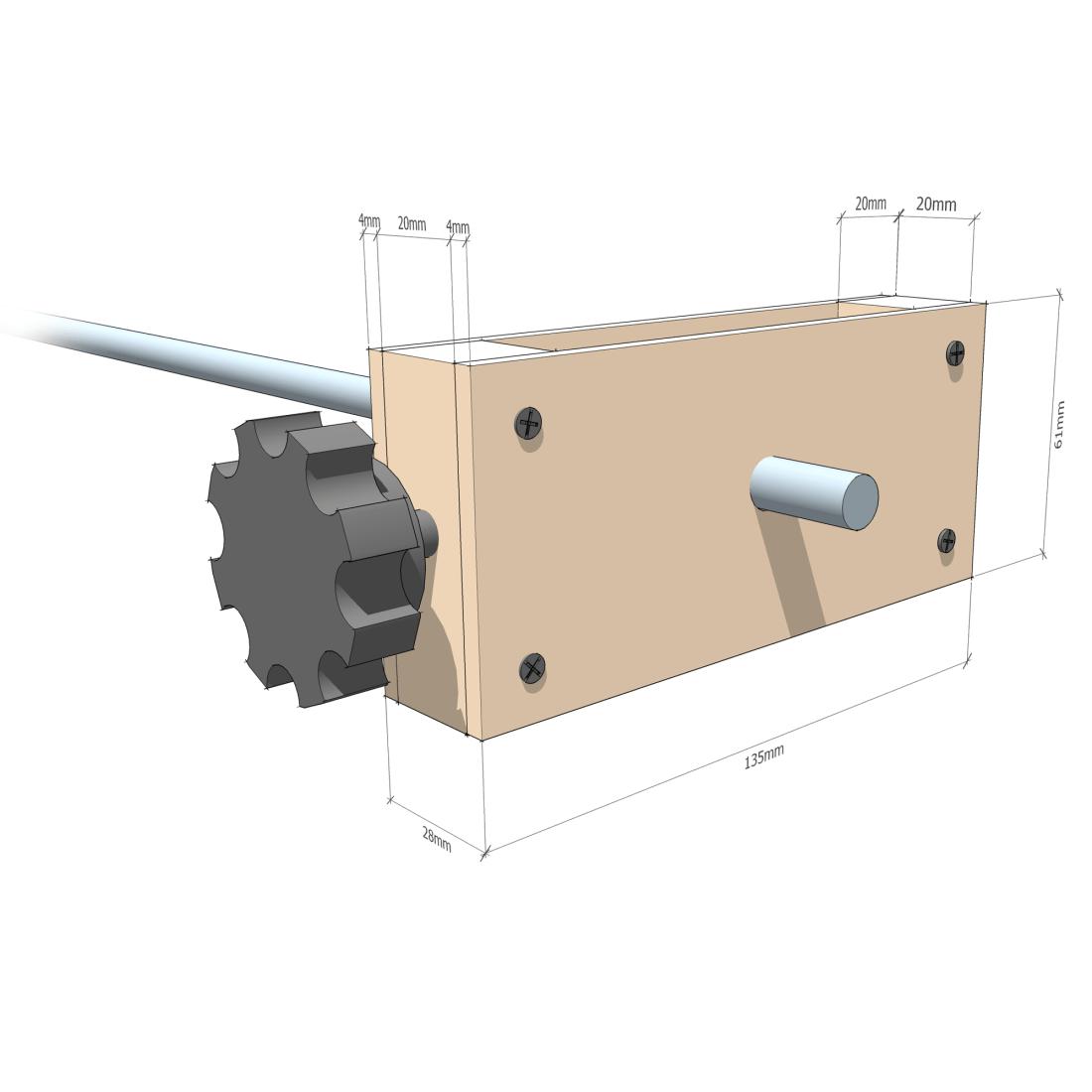 Fingerboard radius jig - Height adjuster