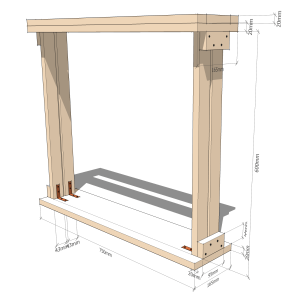 Fingerboard radius jig - Outer frame
