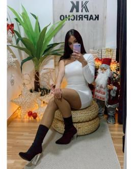 Vestido blanco licra 2912