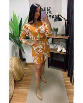 Vestido camisero flores 2502