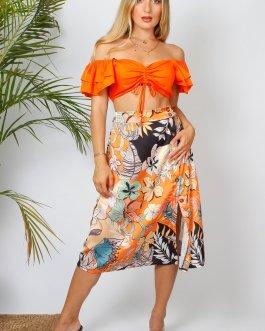 Falda midi estampada 2005