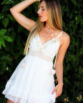 Vestido corto borlas 2705