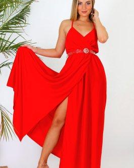 Vestido largo abierto 0306