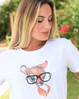 Camiseta bambi gafotas 1106