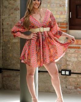 Vestido corto étnico 1806