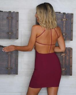 Vestido corto ajustado 2107