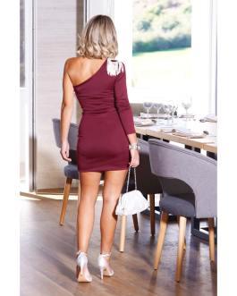 Vestido corto ajustado 0710