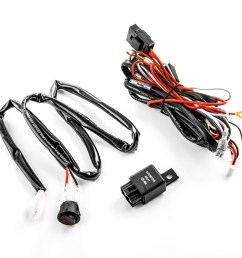 wiring harness kit for led lights 200w 12v 40a fuse relay on off switch relay universal compatible with led hid or halogen off road light bars  [ 1500 x 1500 Pixel ]