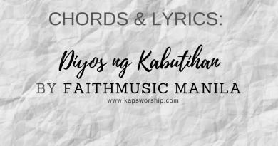 diyos ng kabutihan chords by faithmusic manila