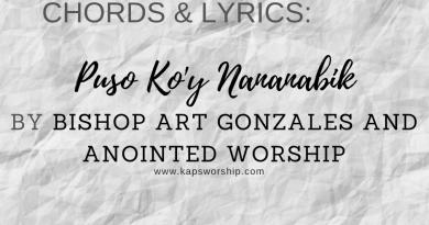 puso koy nananabik chords and lyrics by bishop art gonzales