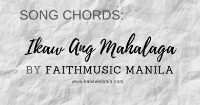 ikaw ang mahalaga chords and lyrics by faithmusic manila