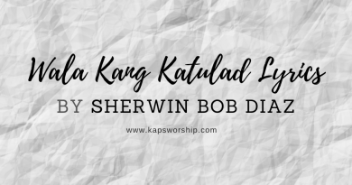 wala kang katulad lyrics by sherwin bob diaz