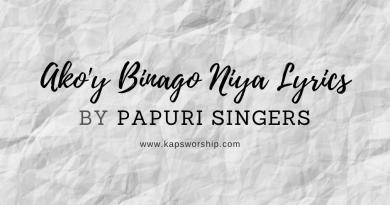 ako'y binago niya lyrics