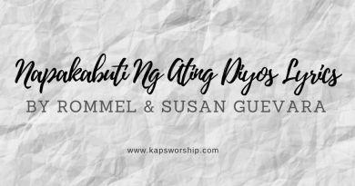 napakabuti ng ating diyos lyrics