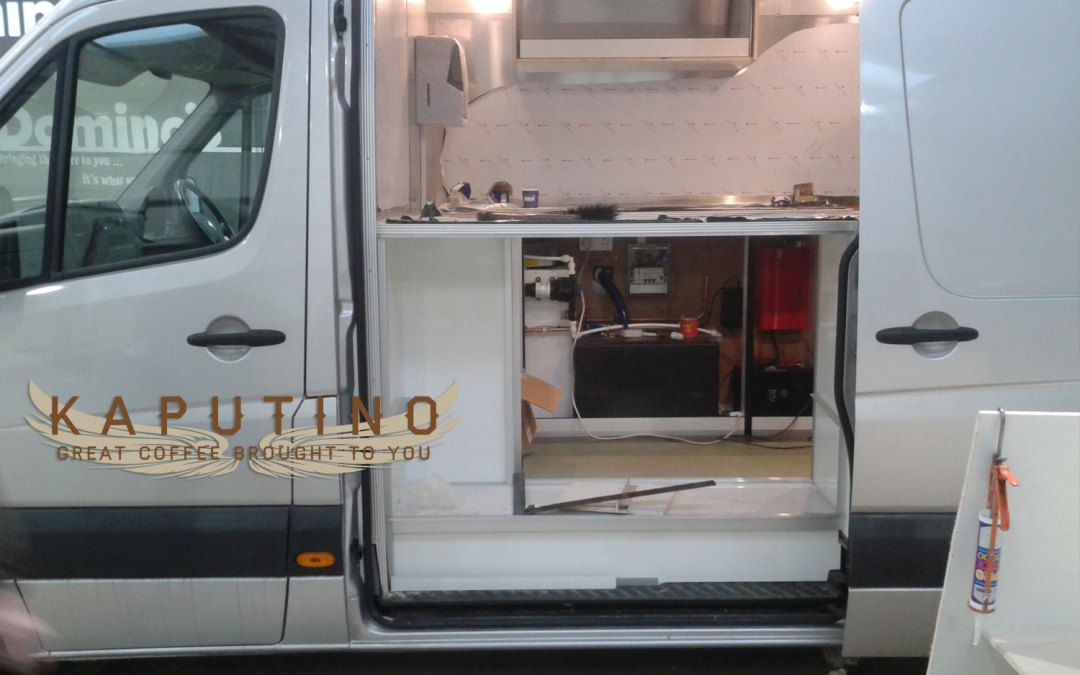 Kaputino Mobile Coffee Van Conversion nears completion