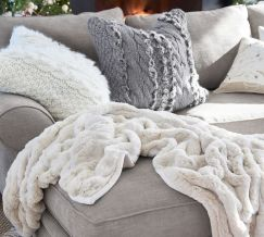 Plush Throw in the Living Room