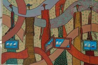 """""""Travellers"""". 120 x100 cm. Acrilyc."""