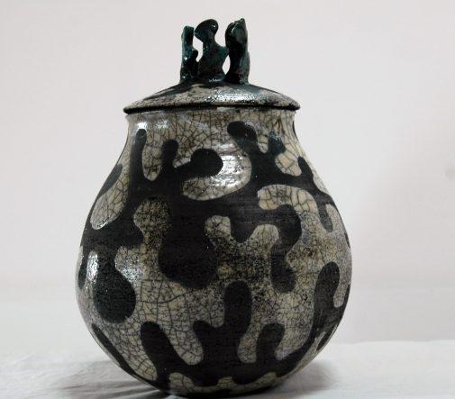 Raku. Dragon Bowl. Ύψος, 47cm, διάμετρος, 30cm