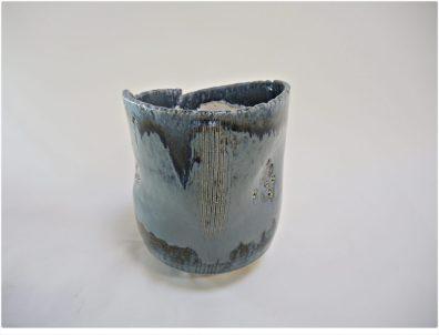 Μπλε και λευκό Υ 24 cm Χ Δ 19 cm