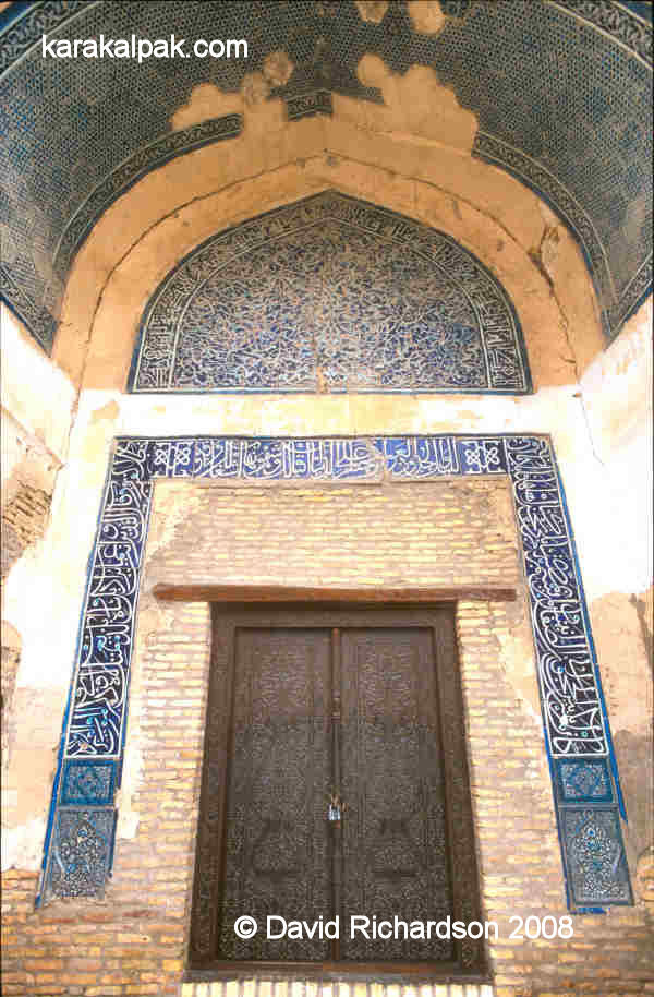 Tilework around the door