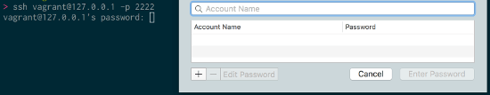 Password Manager 初期表示