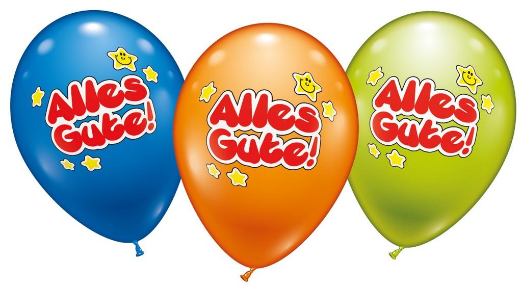 Karaloon Shop  6 Ballons Alles Gute