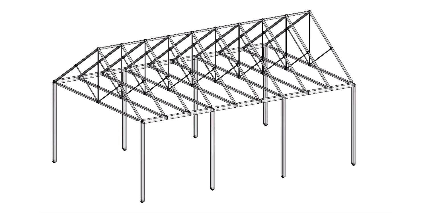 Export a Gable Truss Structure to Revit with Geometry Gym