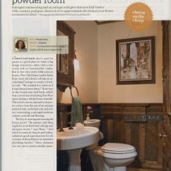 Knotty Pine Kitchen Cabinets Propane Stoves Victorian-style Powder Room
