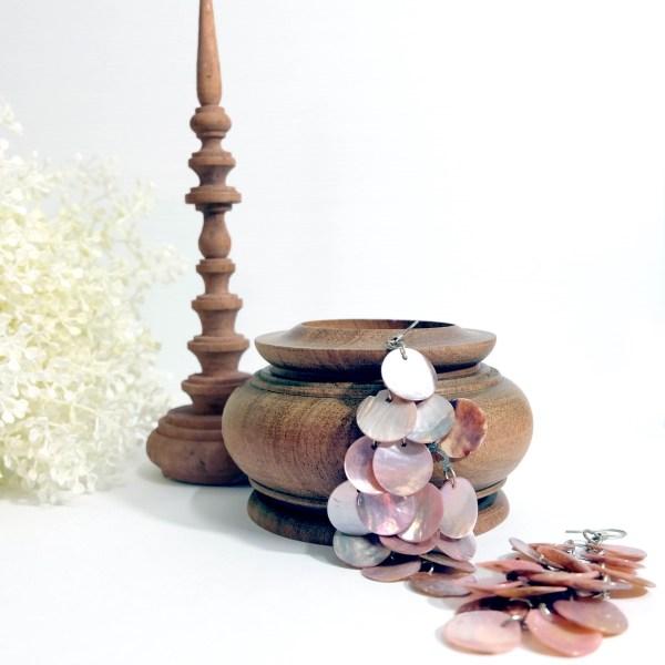 Kararam Handcrafted WOOD JEWELLERY Box(Casket), Treasure Chest, Thai Theatrical Crown, TEAK, 92-mm or 3-1/2-inch Width