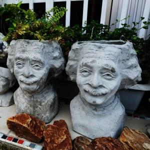 Handcrafted Cement Albert Einstein Planter(Einstein Plant Pot), House, Office, Garden Plant Pot, Unique Pot, Container, 500-mm, 20-inches(H)