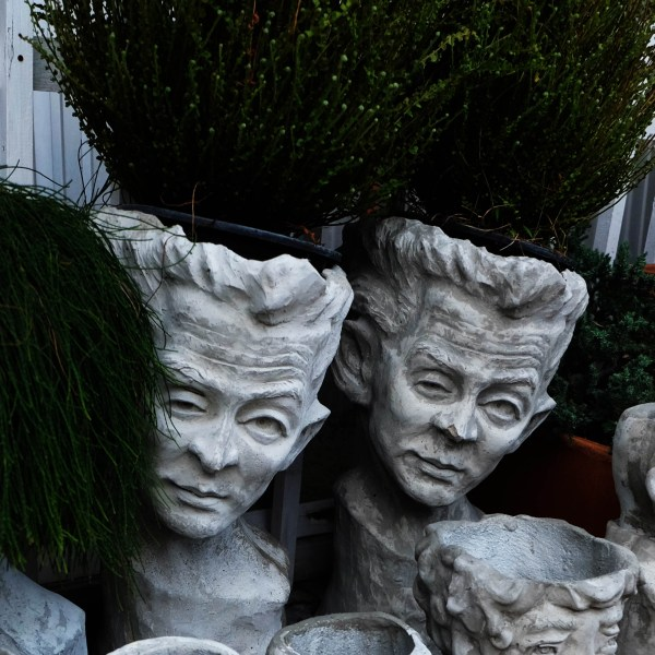 Handcrafted Cement MAN FACE Planter(Male Face Plant Pot), House, Office, Garden Plant Pot, Unique Pot, Container, 500-mm, 20-inches(Height)