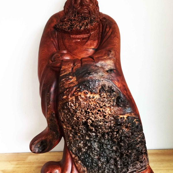 Handcrafted WOOD BODHIDHARMA Sculpture(Standing Patriarch), Chan Buddhism, Shaolin Monastery, Daruma, House, Office, Figure, Art, Home Decor, 840-mm or 33-inches(Height)