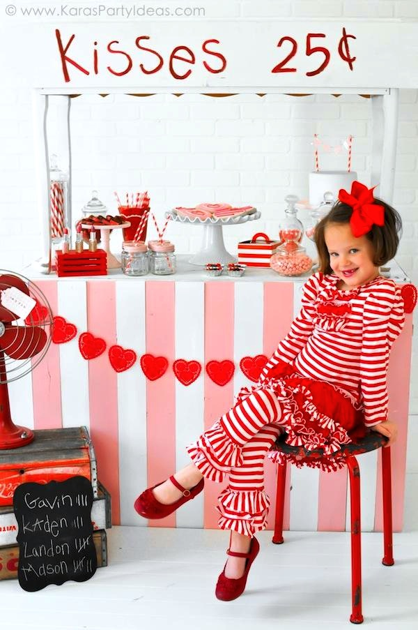 Karas Party Ideas Valentines Kissing Booth Party Via Karas Party Ideas Shop