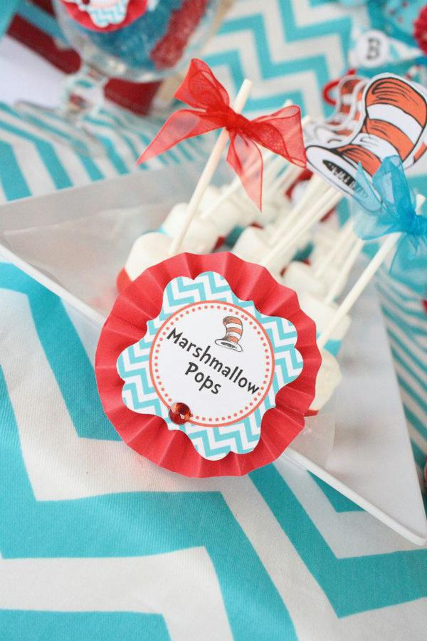 Karas Party Ideas Thing One Thing Two Dr Seuss Twins 1st