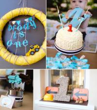 Kara's Party Ideas Construction Truck Themed 1st Birthday