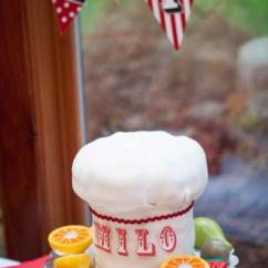Kitchen Themed Bridal Shower Retro Chairs Kara's Party Ideas Chef Cooking Pizza Planning ...