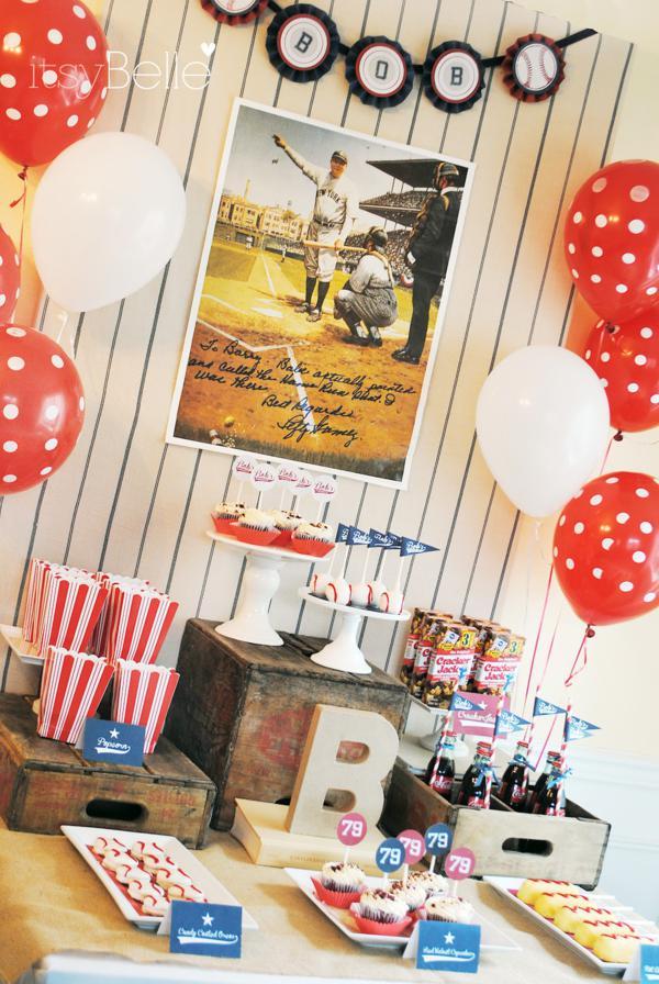 Karas Party Ideas 79th Birthday Boy Vintage Baseball
