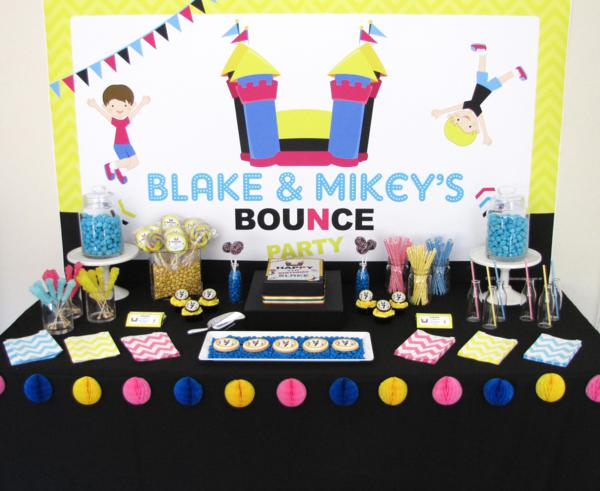 Kara's Party Ideas Bounce House Themed Birthday Party Unique Party