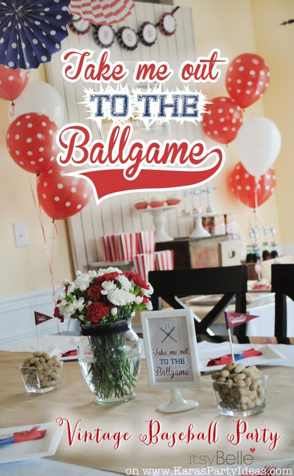 Image Of Baseball Decorations For Birthday Party