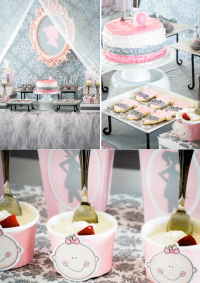 Kara's Party Ideas Pink Gray Princess Girl Themed Baby