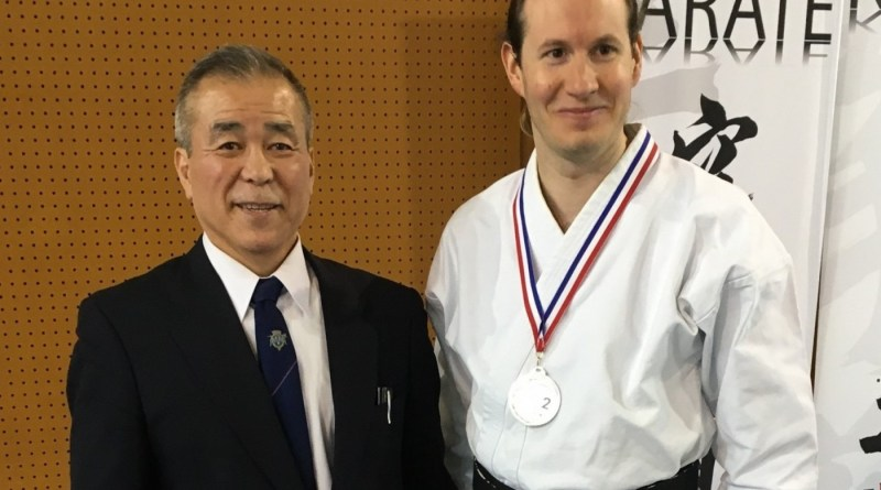 Maitre Kobudo Zenei Oshiro, Ghislain Lecoq 2e de la Coupe de Kata Kobudo 2016