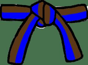 Cinturón Azul/Marrón