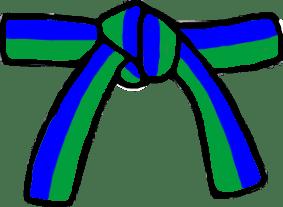 Cinturón Verde/Azul