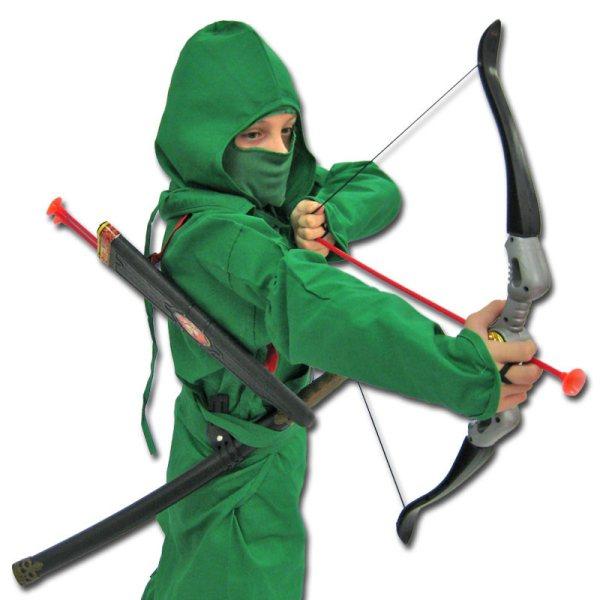 Jungle Strike Ninja Costume - Green Ninjago Archer Uniform