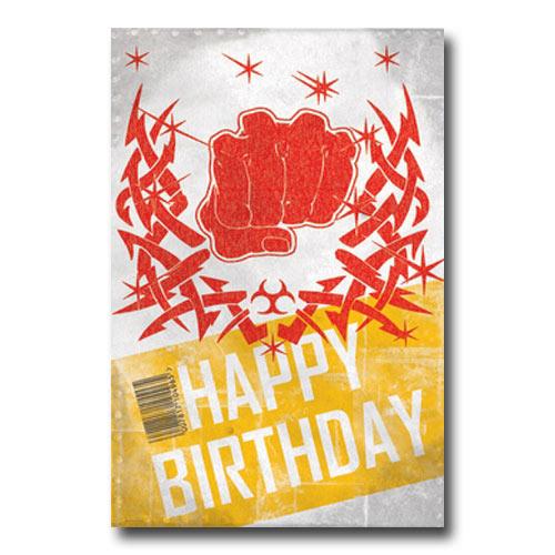 Karate Punch Birthday Postcard  Martial Arts Birthday Postcards  Martial Arts Birthday Card