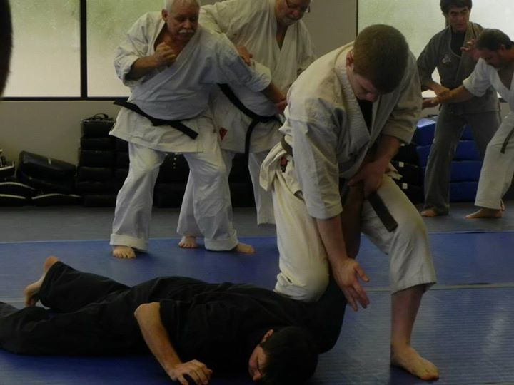 Me practicing a technique at a Kissaki-Kai seminar