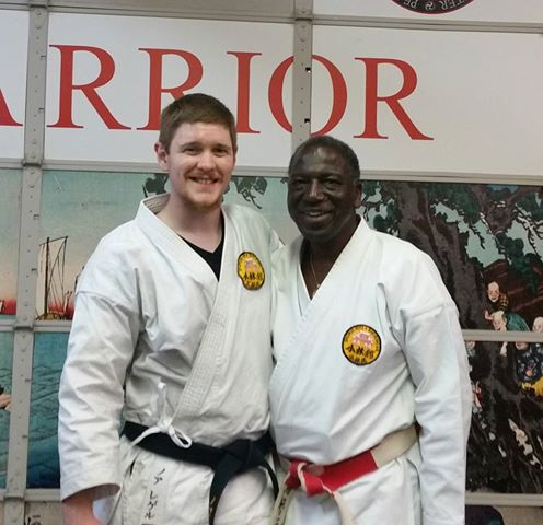 Myself with Eddie Bethea Sensei after the test