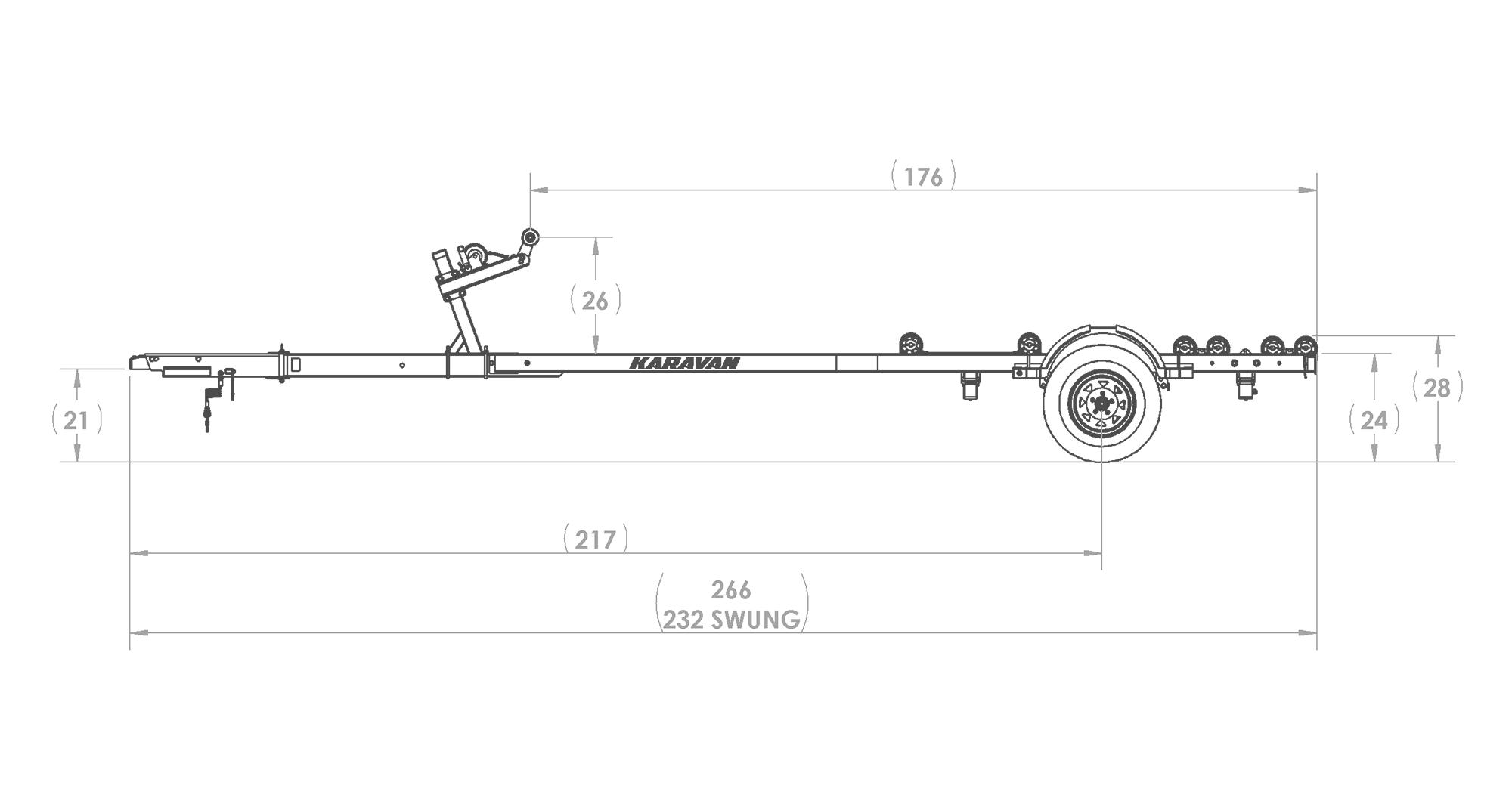 Single Axle Roller Trailer