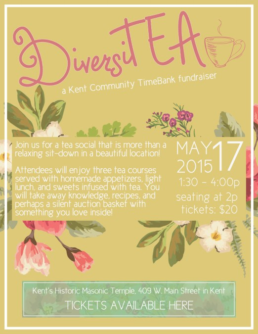 DiversiTEA Nonprofit Fundraising Flyer Project